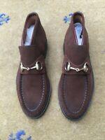 Gucci Womens Shoes Brown Suede Horsebit Loafers UK 3 US 5 EU 36 Ladies Booties