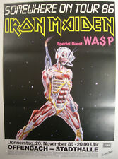 IRON MAIDEN CONCERT TOUR POSTER 1986 SOMEWHERE IN TIME STEVE HARRIS