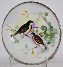 Royal Crown Fine China 44/262 Hand Painted Robin Bird Plate Made in Japan
