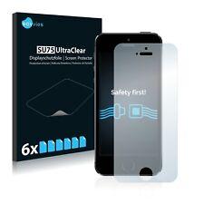 6x Displayschutzfolie für Apple iPhone 5S Schutzfolie Klar Folie Displayfolie