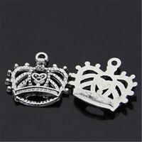20pc Tibetan Silver Charms PRINCESS Crown Pendant Beads Jewellery Making  JP1114