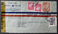 Colombia Cover 1943 Censored Cali To Schenectady N.Y. Uptown