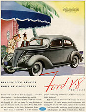 1937 Ford V-8 - Promotional Advertising Poster
