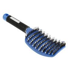 Soft Paddle Detangling Hair Brush Curved Nylon Bristle Pins Hairbrush Random