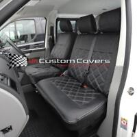 VW TRANSPORTER T6 & CARAVELLE TAILORED LEATHER LOOK SEAT COVERS 2015 ON 209