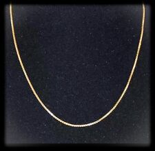 Beautiful & Shiny 14K Yellow Gold 18in Box Chain Italy NEW QVC