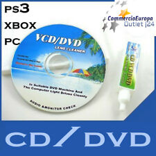 CD PULIZIA KIT DVD VCD CD PULISCI LENTE LENS CLEANER STOCK COMPUTER CONSOLLE new
