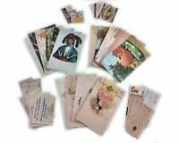 Lot 25 Piece Vintage Postcard Reproduction Junk Journal Ephemera Craft Supply