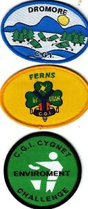 CATHOLIC GUIDES of IRELAND DROMORE + FERNS + CYGNET Badges
