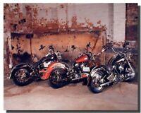 Three Old Harley Davidsons B Lovell Motorcycle Bike Wall Decor Art Print (16x20)