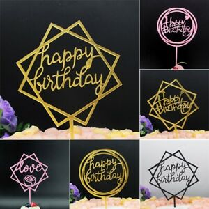Torte Cake Muffin + Toppers Attachment Happy Birthday Decorations Party DIY&&