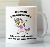 Human Resources Unicorn job coffee mug, Gift for retirement coworker leaving