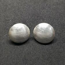 925 Sterling Silver Button Earring Thai Karen Handmade With Matte Finishing