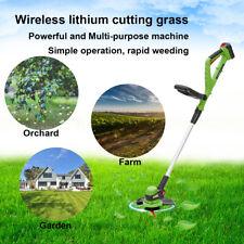 Rechargeable Cordless Grass Trimmer Cutter Garden Weed Lawn Cutting Mower