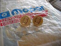NOS MOPAR 1975-79 GOLD CHRYSLER CORDOBA FENDER SIDES MEDALLIONS-3811467