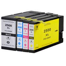 4 Ink Cartridges PGI-2500XL for Canon IB4150 IB4155 MB5150 MB5155 MB5450 MB5455
