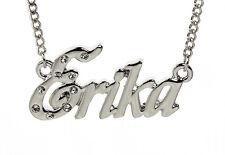 18 K oro blanco plateado Collar con nombre Erika-Accesorios personalizado personalizado