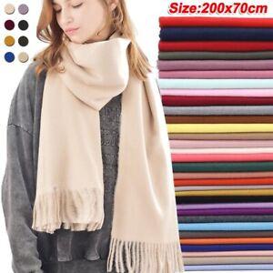Thicker Warm Winter Shawl Tassels Scarf Cashmere Men And Women Neck Blanket Wrap