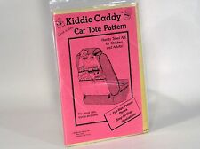Kiddie Caddy CAR TOTE 1985 Rankin Ent. Sewing Craft Pattern HANDY TRAVEL AID
