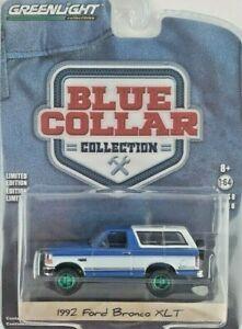 1/64 GreenLight Blue Collar Series 8 1992 Ford Bronco XLT Green Machine