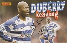 READING: MICHAEL DUBERRY SIGNED A4 (12x8) MAGAZINE PICTURE+COA