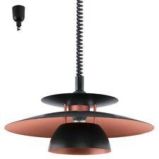 Lampadario a 1 luce moderno sali e scendi cucina nero e rame GLO 31666 Brenda