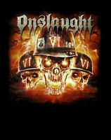 ONSLAUGHT cd cvr CHAOS IS MY KING - VI Official SHIRT MED New OOP