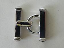 Modern Rhodium Sterling Silver .925 Multi-Strand 9 Strand Small Bracelet Clasp