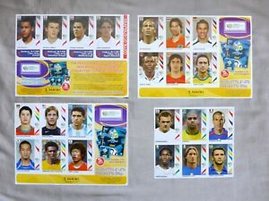Set of 4 uncut Panini World Cup 2006 Sticker Sheets including C. Ronaldo Rookie