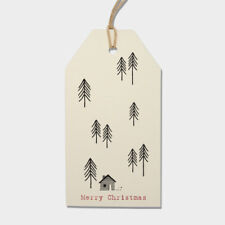NEW 2017 East of India Cream Fir Trees 6 Parcel Gift Tags Christmas