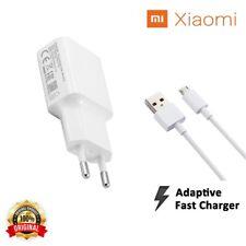Caricabatterie Da Rete Originale Xiaomi Carica Rapida Fast Charger Cavo MicroUsb