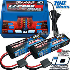 Traxxas EZ-Peak Dual iD Charger 2972 with (2) 7.4V 5800mAh LiPo Batteries 2843X