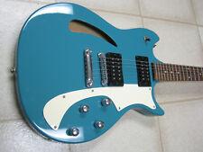 Cort Jim J Triggs Design hollowbody electric guitar, NOS, aqua blue!