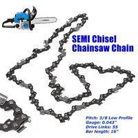 "1*Chainsaw Semi Chisel Chains 3/8LP 043 55DL for Stihl 16"" Bar MS170 MS180 Chain"