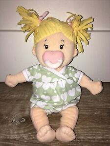 RARE Plush Baby Doll Girl Toddler Magnetic Pacifier Binky Manhattan Toy Co.
