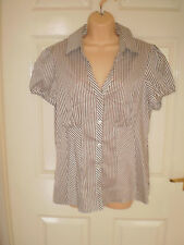 George Striped Collared Tops & Shirts for Women
