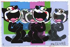 MR CLEVER ART FELIX THE CAT PALE BLUE MULTIPLES UNIQUE street pop contemporary