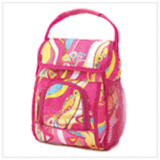 "Print Girl Tote Lunch Bag 10"", 2"", 4"", 7 Hobo and Multi-Color Polyester & Small"