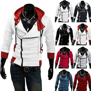 Stylish Creed Hoodie men's Cosplay Assassins Cool Slim Jacket Costume