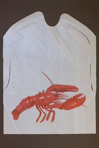 25 PACK OF DISPOSABLE CLEAR PLASTIC LOBSTER BIBS FREE SHIPPING