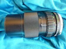 Olympus 75-150 mm zoom lens f 4, with case, Olympus OM lens mount.
