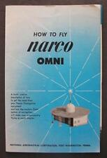 1957 National Aeronautical Corp How To Fly Narco Omni Operating Instructions