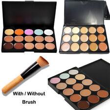 15 Colour Concealer Palette Kit Face Makeup Contour Cream With / Without Brush