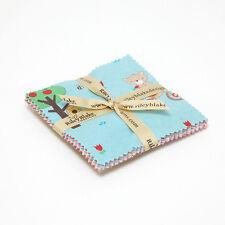 "Teddy Bear's Picnic 5"" Fabric Squares Charm Pack, Melly & Me/Riley Blake, 18 pcs"