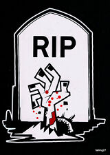 *BLOODY* Zombie R.I.P Gravestone Family Car Decal Sticker    **FREE DECAL**
