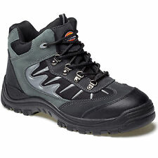 MENS DICKIES STORM STEEL TOE SAFETY WORK BOOTS UK 4 EU 37 FA23385A