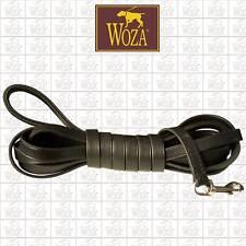 WOZA Premium Hundeleine Trainingleine Schleppleine Vollleder runde Kanten L1319