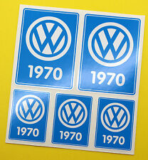 VW 1970 VOLKSWAGEN Year Date stickers INSIDE GLASS BEETLE BAY WINDOW CAMPER