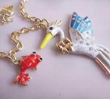 N350 BETSEY JOHNSON Hawaiian Tropical Island Bird Sea Gull Goldfish Necklace US