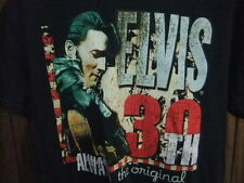 Elvis 30th Anniversary shirt concert tour Always the Orginal med black The King